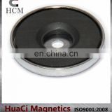 "12 LB Holding Power Ceramic Cup Magnet 1.26"" Magnetic Round Base"