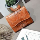 PU leather women wallet snake skin