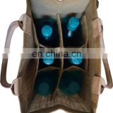 Wine Bottle Natural Jute Bags and beer bottle carrier burlap bag