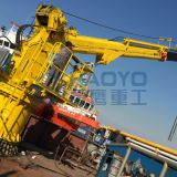 Marine/High Quality Low Price 0.85T 31M Telescopic Boom Marine Crane All Rotation Slewing Crane