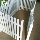 Decorative effect white vinyl picket fence durable white plastic fence