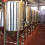500L beer brewing equipment conical beer fermentor with cooling jacket beer fermentation tank