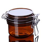 Wholsale 120ml Amber Plastic Glass Cream Jar for Facial Mask