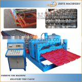automatic machines for the glazed tile/steel plate rolling machine glazing tile roll forming machine