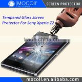 0.33mm Round Cutting Japan Asahi Tempered Glass Screen Protector For Sony Xperia Z2 L50T With Nippa Glue