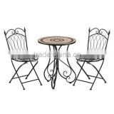 Mosaic outdoor furniture patio bistro set
