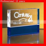 Blue-Clear crystal cube Crystal Paperweight