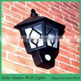 Solar Wall Light 2 LEDs Waterproof Wireless Decorative for Outdoor Garden Fence Wall Step