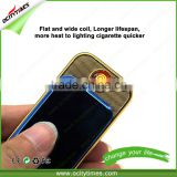 electronic market dubai Hottest electric coil lighter/rechargeable lighter/brand name cigarette lighter