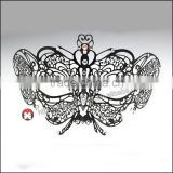 fandango Women's Swan Metal Filigree Laser Cut christmas carnival Mask