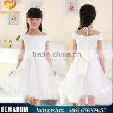 New Summer Children Clothes Wedding Dress Teen Girl Princess Dress Bridal Sling Lace Dress