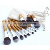 11pcs/set Professional Makeup Brushes Set Wood Superior Soft Cosmetic Eyeshadow Foundation Concealer Make up Brush Set with Bag