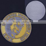 challenge brass coins, made of zinc alloy,soft enamel,nickel-plating,1.75'' size