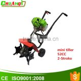 52CC Two-stroke mini gasoline engine rotary cultivator power tiller with CE                                                                                         Most Popular