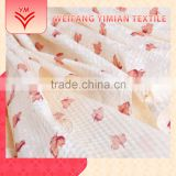 Seersucker Polyester Cotton Printed Silk Floral Dress Fabric