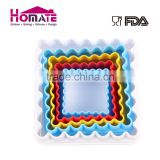 Hot sale FDA and LFGB food grade colorful square shape non-sick silicone table mat & silicone placemat