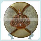 resin vintage crown design display plate for home decor