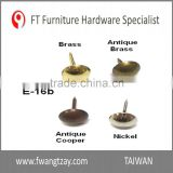 Taiwan OEM	High Quality Upholstery Antique Metal Furniture Nail