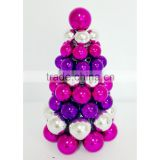 vintage decorative artificial mini Christmas Tree with plastic ball for Home and Holiday Decorating