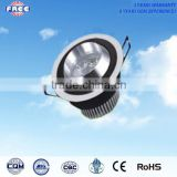3w LED ceiling light accessory parts aluminum alloy round unility,used for shopping mall,supermarket,hotel,high-grade household