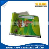 Laminated opp plastic film rolls ice cream bag/ Plastic Roll packaging for ice cream bar pouch