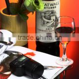 (Top) auto vacuum battery powered temperature display anti-tilt wine bottle stopper