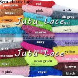 8CM width lace elastic for headband, Laces fabric wholesale African korean silk lace fabrics for party