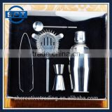 5pcs Stainless Steel Bar Tool Set Creative Cocktail Shaker Set