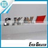 car auto letterscar logo emblem car accessory metal sticker badges for cars zinc alloy chrome badges