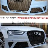 Aftermarket bodykit for audi A4 change RS4 car front bumper