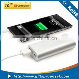5000mah External Power Bank Backup One USB Battery Charger with Blue LED Light For Cell Phone