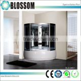China best quality glass partition infrared sauna combination 2 person shower cubicle