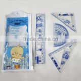 2014 New Factory Wholesale School 18cm Plstic Stationary for Student Ruler Set