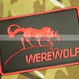 PVC Werewolf Patch Rubber Tactical Hook And Loop Patches Military Morale Armband Army Combat Badge