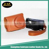 Wholesale Price Leather Digital Camera Case Bag with Strap,waterproof camera bag
