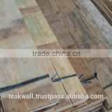 Recycled teak plank Pile