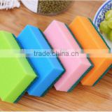 Custom wholesale promotional kitchen cleaning non-abrasive nylon green dish non-scratch sponge scouring