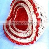 hot sale high quality heart shaped wicker baskets