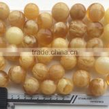 Natural Baltic Amber beads in loose yellow - white color 25-30mm