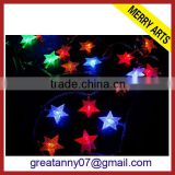 yiwu new product star shape led string christmas lights and lighting made in china for sale