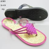 PCU China knots shoelace women's clip-toe slippers