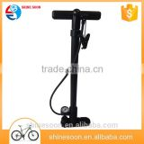 Wholesale protable Floor Bike pump with plastic handle pressure gauge