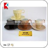 wholesale engraved logo printed espresso mug cups promotional coffee ceramic cup and saucer