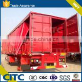 13m curtainside beverage drink transport trailer/20ft 40ft 53ft refrigerated cargo trailer , meat tranport reefer trailer, 3 axl