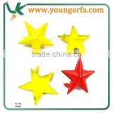 Star Shape Loose Metal Stud with Prong for shoe, garment, bag.