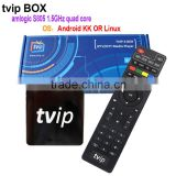 100% Real Factory Original 4K 3D Dual system Linux/Android 4.4 IPTV Box without Satellite TV Receiver