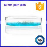 60mm disposable lab glass quartz petri dish