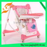 plastic folding baby dining table and chair