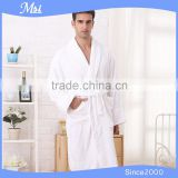 mass production hotel 100% cotton velvet pile fluffy men's bathrobe/bath gown/dress gown