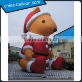 Gaint outdoor lovely advertising inflatable christmas polar bear for sale